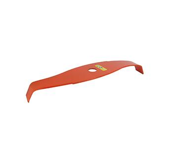 2-Tands mulchmes - gebogen model (vermindert de geluidsoverlast)  - Oranje kleur, verhoogt de zichtbaarheid voor de gebruiker - Buiten Ø van 315mm, asgat: 20,0mm, dikte: 3mm