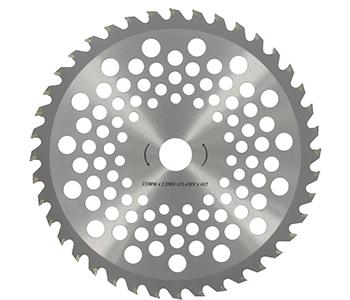 Bosmaaiermes met 40 hardmetalen punten - buiten Ø 230 mm en asgat 25,4mm voor aluminium kop 1603085.