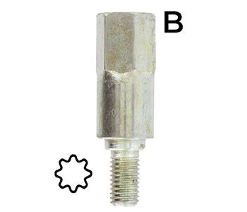 steradapter 8 tanden - Voor op de tandwielkast 160-2042.