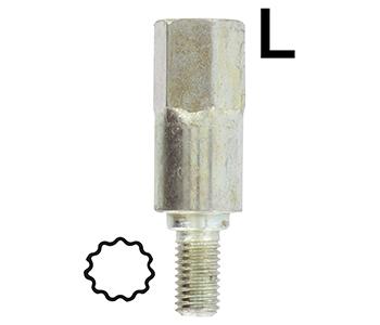 Adaptor profile BLUE BIRD 6.5mm - for gearbox 160-2042
