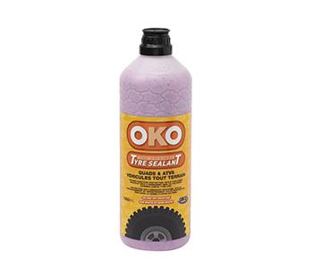 Fles bandendichtmiddel OKO ROSE speciale formule voor alle recreatieve voertuigen (quads, terreinvoertuigen). Voor gebruik op terrein en op de openbare weg. Geleverd met gereedschap om ventiel te verwijderen en geïntegreede vulslang.